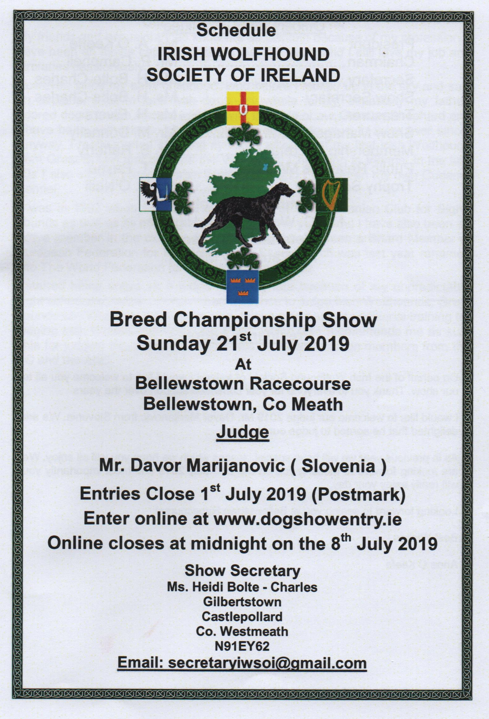 2019 Irish Wolfhound Annual Breed Show